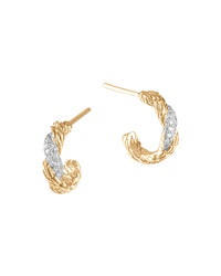 Classic Chain Extra Small 18K Diamond Hoop Earrings John Hardy