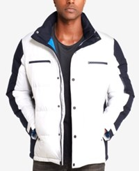 Sean John Men's Colorblocked Ski Jacket White