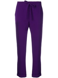P.A.R.O.S.H. Tailored Joggers Purple