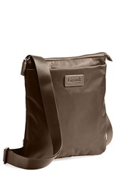 Men's Lipault Paris Crossbody Bag Brown Espresso