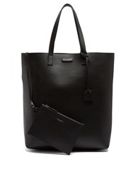 Saint Laurent Medium Leather Tote Black