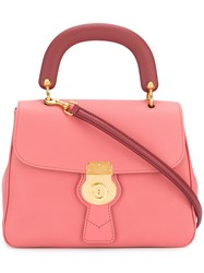 Burberry The Medium Dk88 Top Handle Bag Pink And Purple