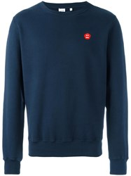 Aspesi Patch Detail Sweatshirt Blue