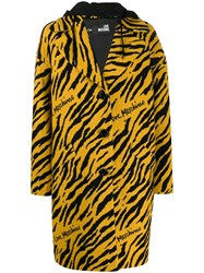 Love Moschino Tiger Pattern Single Breasted Coat 60