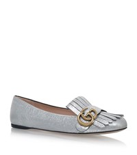 Gucci Marmont Ballet Flats Female Silver