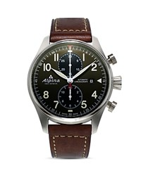 Alpina Startimer Pilot Automatic Chronograph 44Mm Green Brown