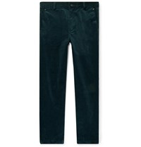 Club Monaco Cotton Corduroy Trousers Green