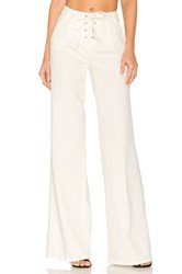 Frame Denim Le Capri Lace Up Pant White