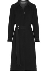 Elizabeth And James Kelly Pleated Cady Coat Black
