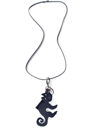 Jil Sander Navy Cat Pendant Necklace Blue