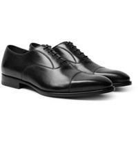 Dunhill Elegant City Leather Oxford Shoes Black
