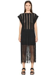 Aviu Fringed Rope Effect Cotton On Mesh Top