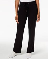 Styleandco. Style Co French Terry Track Pants Created For Macy's Deep Black