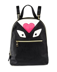 Betsey Johnson Monster Love Faux Leather Backpack Black