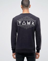 Friend Or Faux Limitless Back Print Sweater Black