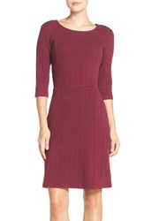 Leota Women's 'Avery' Jacquard Knit Sheath Dress Plum