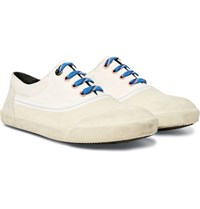 Lanvin Canvas Rubber And Suede Sneakers White