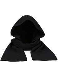 Helmut Lang Hooded Scarf Black