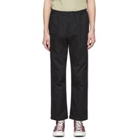 Paa Black Canvas Trousers