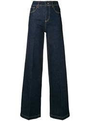 Semicouture Oliver Wide Leg Jeans Blue