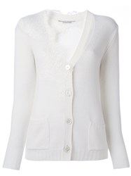 Ermanno Scervino Lace Detail Cardigan White