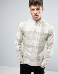 Solid Checked Shirt In Regular Fit 3784 Green