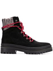 Tommy Hilfiger Lace Up Hiking Boots Black