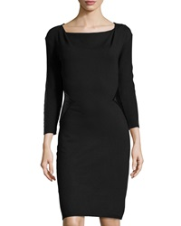 Laundry By Shelli Segal Cowl Neck Sweaterdress W Faux Leather Trim Black