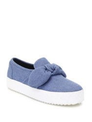 Rebecca Minkoff Stacey Slip On Sneakers Light Blue
