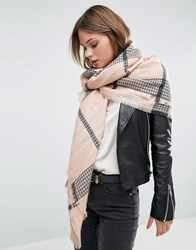 Pieces Louise Blush Check Scarf Pink