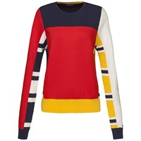 Tommy Hilfiger Etra Patchwork Sweater Red