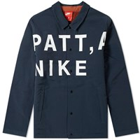 Nike X Patta Coach Jacket Black