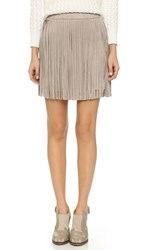 Bb Dakota Fringe Skirt Toffee