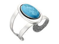 The Sak Oval Stone Cuff Bracelet Teal Bracelet Blue
