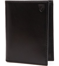 Aspinal Of London Double Fold Leather Card Holder Black