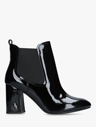 Kurt Geiger Raylan Block Heeled Ankle Boots Black Patent