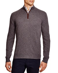 The Men's Store At Bloomingdale's Zip Mock Cashmere Sweater