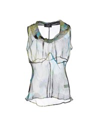 Clips Topwear Vests Women Acid Green