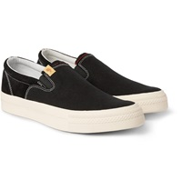 Visvim Skagway Embellished Canvas Slip On Sneakers