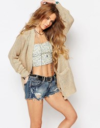 Denim And Supply Ralph Lauren Denim And Supply By Ralph Lauren Boyfriend Knit Cardigan Natural Beige