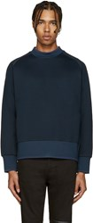 Diesel Black Gold Blue Extended Crewneck Sweatshirt