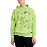 Ovadia And Sons Dancing Skeleton Cotton French Terry Hoodie Lt. Green