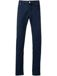 Jacob Cohen High Waist Five Pocket Trousers Blue