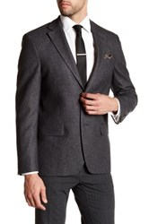 Ike Behar Long Sleeve Wool Sport Coat Gray