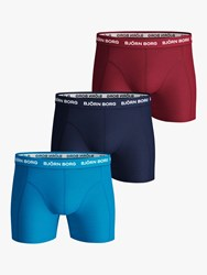 Bjorn Borg Plain Trunks Pack Of 3 Blue