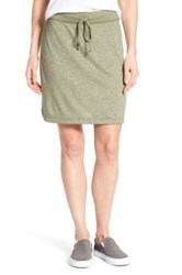Caslon French Terry Skirt Green