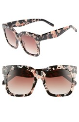 Chelsea 28 Chelsea28 Coco 52Mm Sunglasses Black Pink Marble