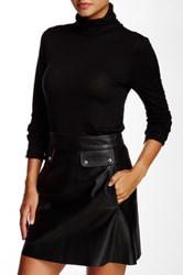 Michael Stars Double Sleeve Turtleneck Sweater Black