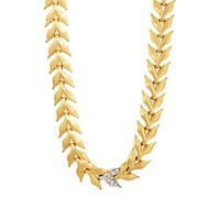 Cathy Waterman Wheat Necklace Yellow