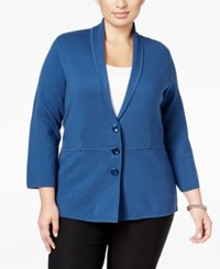 Alfani Plus Size Shawl Collar Knit Jacket Only At Macy's Global Blue